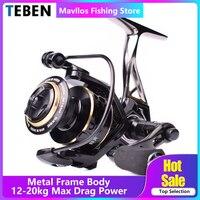TEBEN GTS III Saltwater Metal Jigging Fishing Reel Left Right Hand 9BB Max Drag 12 20Kg Lure Carp Surf Fishing Spinning Reels