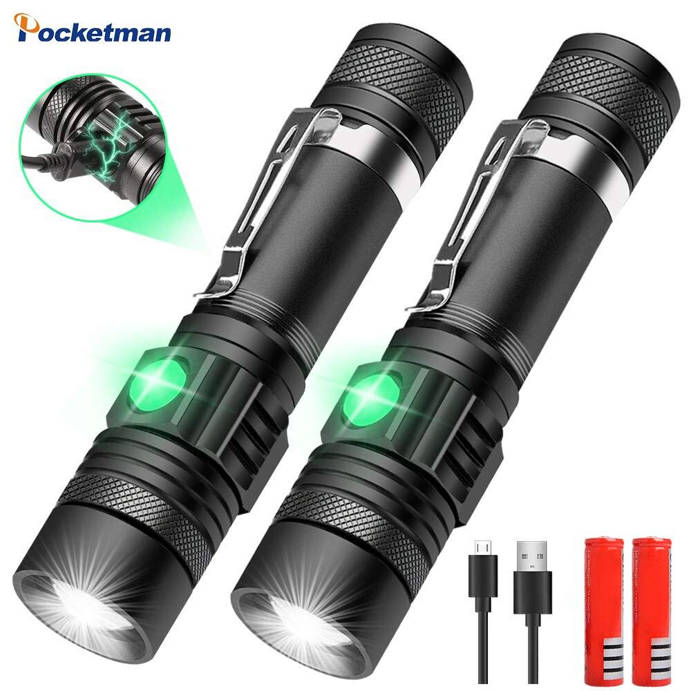 Lampe DE poche à lampe DE poche, à la lampe DE poche à la lampe DE poche, LED très brillante T6/L2/V6, lampe DE bicyclette d'extérieur Zoomable, rechargeable, USB, 8000LM