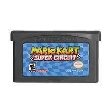 Для Nintendo GBA видеоигры картридж консоль карта Mari Kart супер схема английский язык версия США