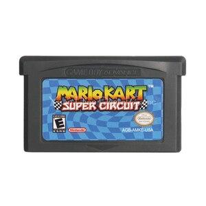 Image 1 - Для Nintendo GBA видеоигры картридж консоль карта Mari Kart супер схема английский язык версия США