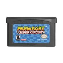 Per Nintendo GBA Cartuccia del Video Gioco Console Carta di Mari Kart Super Circuito di Lingua Inglese Versione DEGLI STATI UNITI