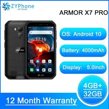 Перейти на Алиэкспресс и купить NFC Android 10 IP69K IP68 ударопрочные мобильные телефоны 4 ГБ 32 ГБ GPS сотовый телефон 4000 мАч 4G Прочный смартфон Ulefone Armor X7 Pro