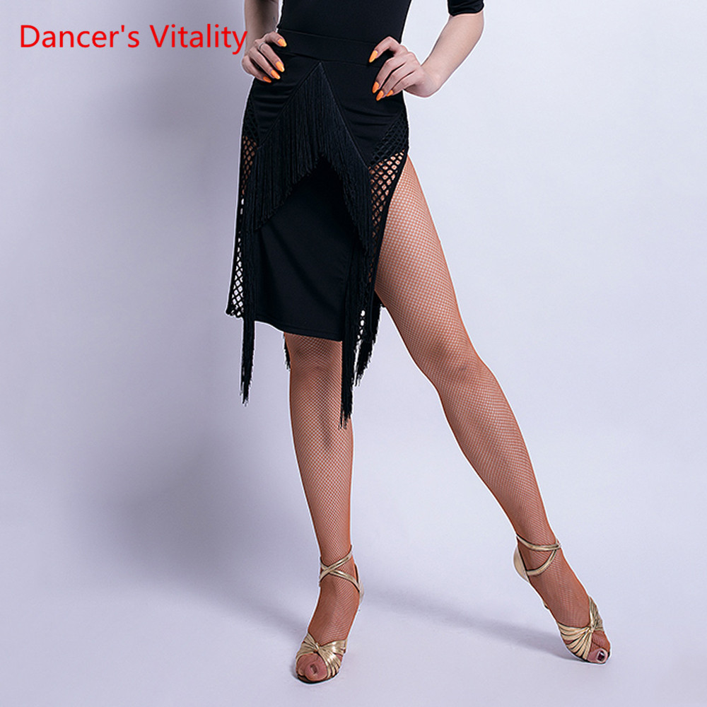 Latin Dance Exercise Clothing Female Adult Irregular Sexy Tassel Skirt New Professional Performance Competition Clothes