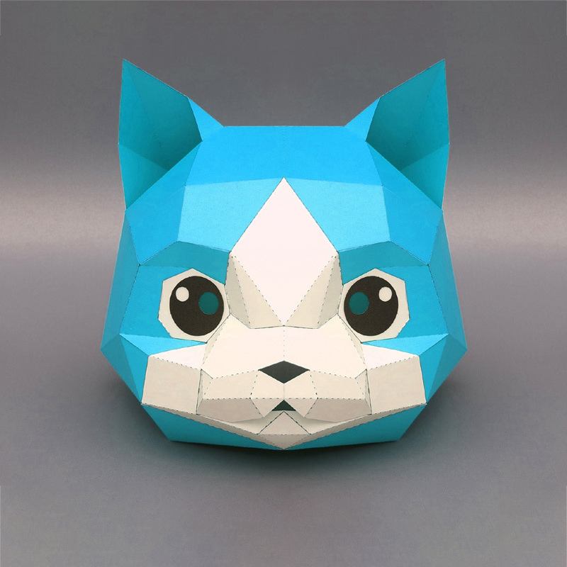 3D Paper Mask Fashion Animal and Game Role-Playing Costume DIY Handmade Paper Model Mask Christmas Halloween Party Gift 14