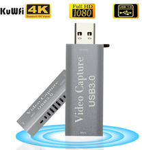 KuWFi 4K USB Capture Video Card USB 3.0 1080P Video Card HDMI Grabber Record Box for PS4 Game Camera Live Streaming NEW