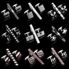Quality Cufflinks Necktie Clip for tie pin for men's gift Classic pattern tie bars cufflinks tie clip set Men Jewelry gemelos bo
