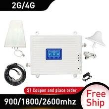 2G 3G 4G/900/1800/2600 GSM DCS FDD LTE 4G Băng Tần bộ Lặp Tín Hiệu GSM Tế Bào Di Động Tăng Cường Tín Hiệu 4 Gamplifier