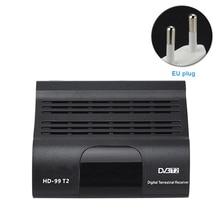 DVB T2 TV H.265 الأسود مع جهاز تحكم عن بعد الملحقات USB HD 1080P الذكية الرقمية فك التشفير الرئيسية استقبال صندوق استقبال سهلة الاستخدام
