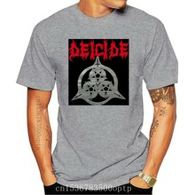 Double Side Deicide Once Upon The Cross T-Shirt - New Official! New Fashion Mens Short Sleeve Cotton T Shirts Unisex Tees