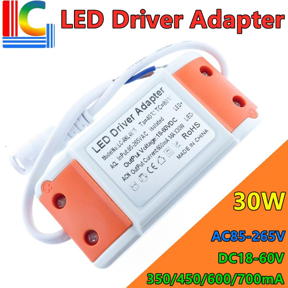 Freeshipping 12W 15W 18W 25W 30W LED Panel light driver adapter AC85-265V Power supply 300mA 450mA 600mA Lighting Transformer image