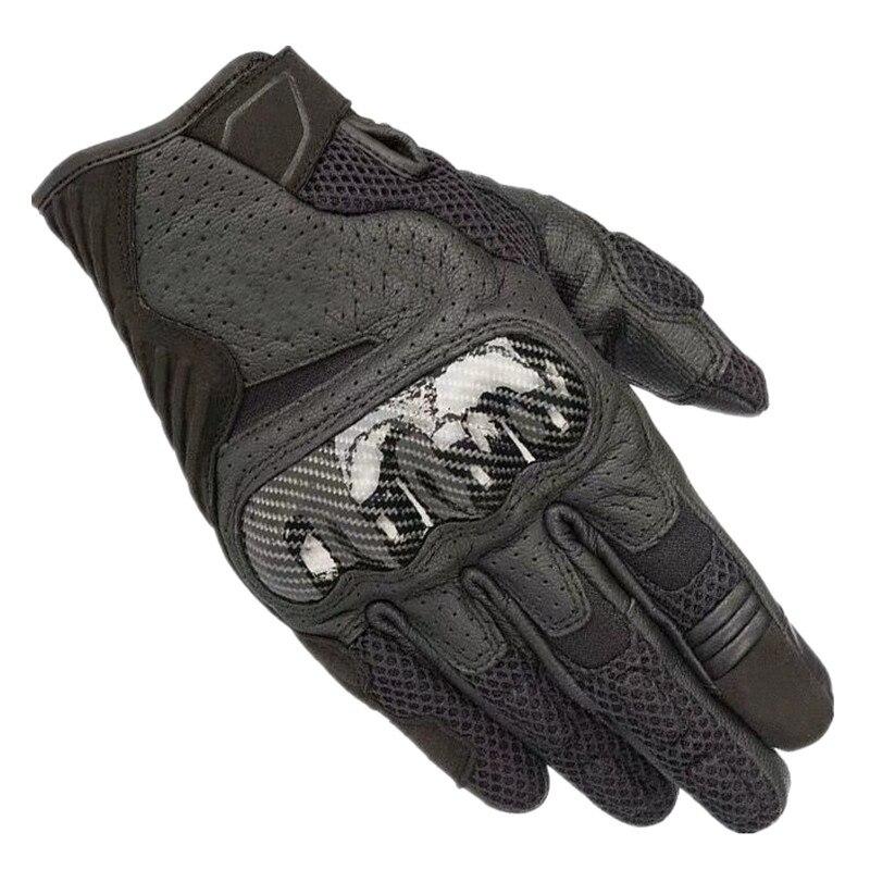 Горные Мотоциклетные Перчатки со звездами, гоночные перчатки, кожаные мотоциклетные перчатки, летние съемные короткие перчатки, черные
