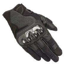 Alpine luva de motocross star racing SMX-1 air v2, luva de couro preta e respirável para motocicleta
