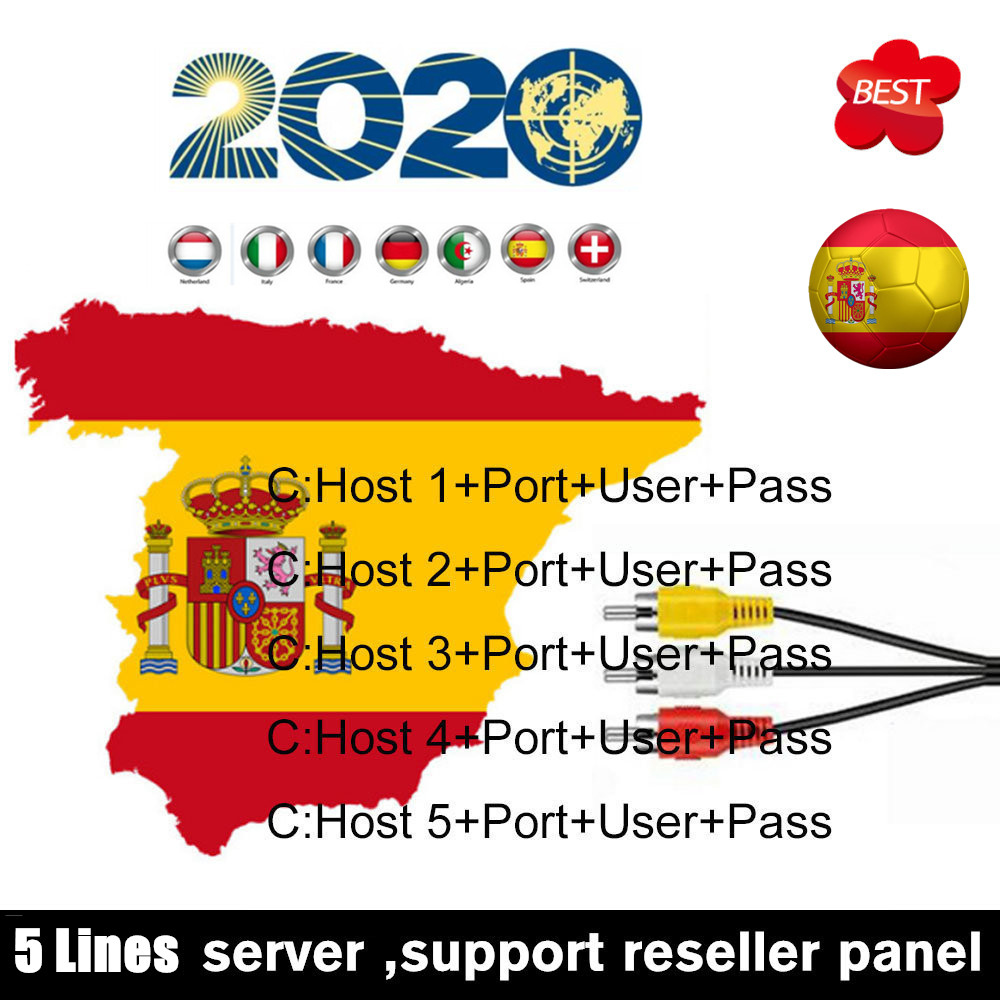 NEWEST 1 Year Spain Portugal Cccams For Satellite Receiver Lines WIFI FULL HD DVB-S2 Eroupe 3/5 Lines Ccams