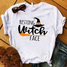 LISCN 2019 Autumn Womens Halloween Sisters Printed Round Neck Short Sleeve T-Shirt  Summer Tops Girls