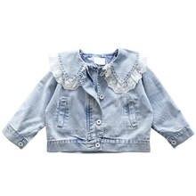 Джинсовая куртка для девочек на весну/осень новинка 2020 детская