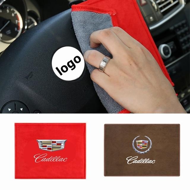 Auto Wildleder Reinigung Handtuch Auto Pflege Dekoration Für Cadillac Escalade Tiburon Deville Seville XT5 XTS CTS BLS SLS DTS Zubehör