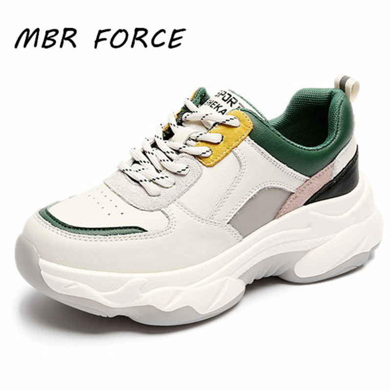 MBR FORCE High Quality Women's Sneakers  Spring And Autumn Thick Bottom Breathable Casual Hiking Vulcanizing Shoes