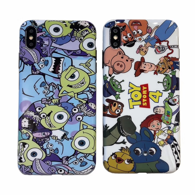 Cute <font><b>Toy</b></font> <font><b>Story</b></font> Alien Buzz Lightyear Cartoon soft silicone glossy Phone Case for <font><b>iPhone</b></font> 6 6s 7 7 Plus 8 X <font><b>XR</b></font> XS MAX cover <font><b>coque</b></font> image