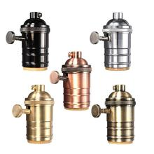 Vintage Edison Lamp Socket E26/E27 Screw Bulb Base Aluminum Lamp Holder Industrial Retro Pendant Fittings Lampholders Fixture