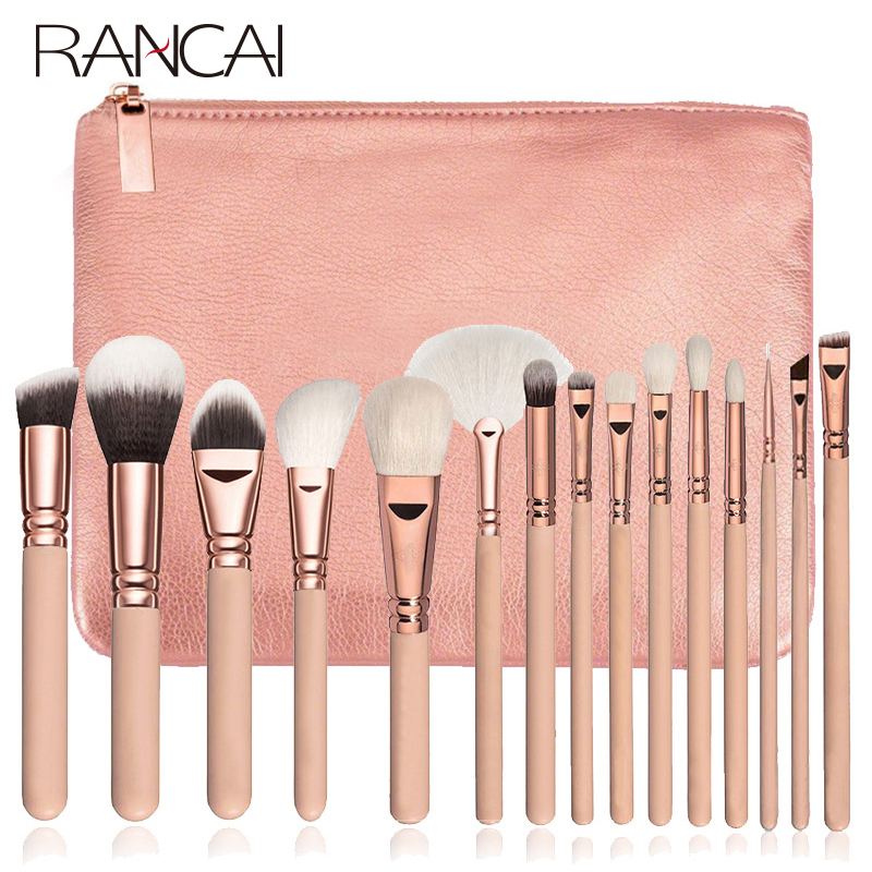 RANCAI10/15pcs High Quality  Makeup Brushes Set Beauty Brushes Powder Eyebrochas Eyeshadow Brush Complete Kit Cosmetics Tools