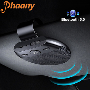 Image 1 - Phaany zestaw samochodowy Bluetooth bezprzewodowy zestaw głośnomówiący odbiornik Audio samochodowy odtwarzacz MP3 z obsługą mikrofonu 2 telefon podłączony
