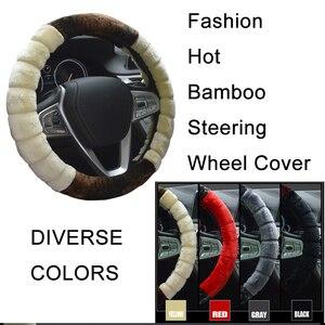 Image 3 - Plush Fur Steering Wheel Cover Car Accessories Decoration Ornaments Winter Universal 36 38cm Fashion Warm Non slip