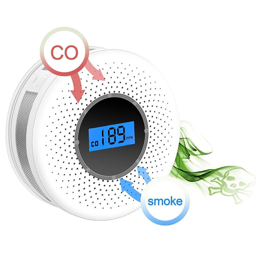 Комбинированный Детектор дыма и окиси углерода с дисплеем, работающий от батареи детектор дыма CO|Детекторы угарного газа|   | АлиЭкспресс