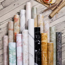 Wokhome Self Adhesive Kitchen Furniture Renovation Sticker Vinyl Waterproof Oil-Proof Marble Wallpaper Contact Paper Wall
