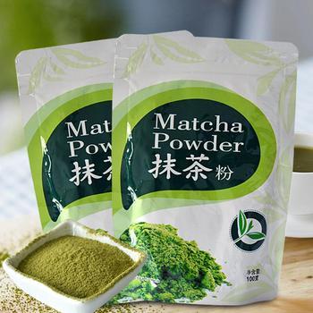 цена на 100g Natural Matcha Organic Matcha Green Tea Powder Portable Scented Powder For Baking Cake Bread Kitchenpaper Bags Tea Bag