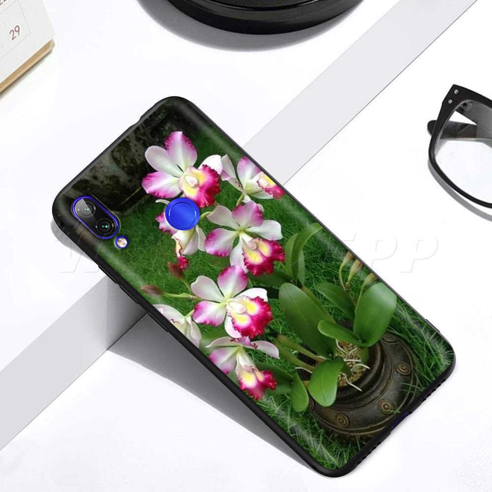 زهور أوركيد الملونة حالة ل Xiaomi Redmi 4A 4X5 5A 6 6A 7 7A S2 ملاحظة الذهاب K20 برو زائد رئيس 8T