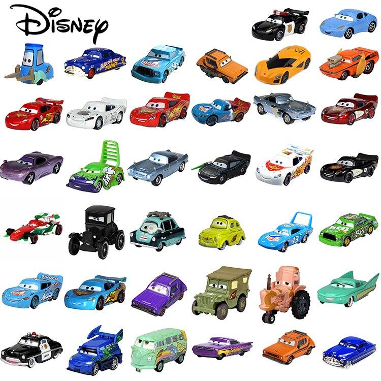 Disney Pixar Carros Brinquedos Relâmpago McQueen 3 2 Jackson Tempestade Tio Mack Truck 1:55 Diecast Model Car Para Crianças Natal presentes