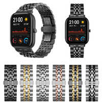 Metal Classic Strap for Huami Amazfit GTS/GTR 47mm Band Stainless Steel Bracelet for Amazfit Bip/Strtos 3 2 WristBand 20mm 22mm