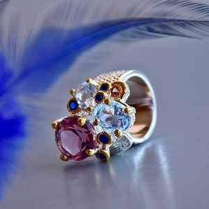 Image 4 - DreamCarnival1989 Super Elegant Women Engagement Rings Chic 2019 Lilac Tone Zircon Two Tones Colors Anniversary Jewelry WA11738