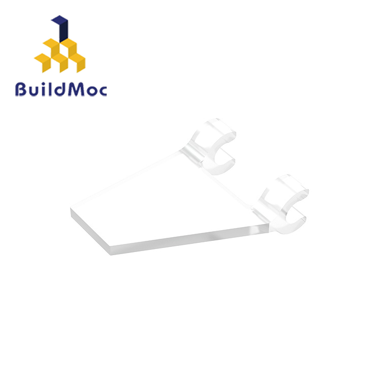 BuildMOC 44676 Flag 2 X 2 Trapezoid For Building Blocks Parts DIY LOGO Educational Creative Gift Toys