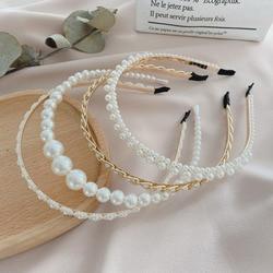 Xwen 2021 New Women Elegant Full Pearls Hairbands Sweet Headband Hair Bundle Lady Hair Hoops Fashion Accessories