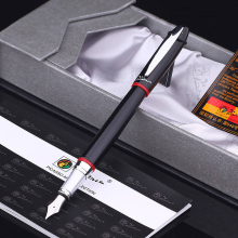 Picasso 1pcs 2017 New Gift Box Fountain Pen 0.5mm Metal Golden Ink Pens Office School Supplies for Birthday Lovers Friends Gifts 1pc lot picasso fountain pens 608 white pen silver clip pimio picasso mens gifts office school supplies stationery 13 6 1 3cm