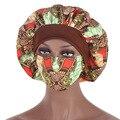 Головной убор с Африканским принтом, хиджабы, шляпа, женская кепка для ночного сна с маской, атласный тюрбан, очень большая головная одежда, ...