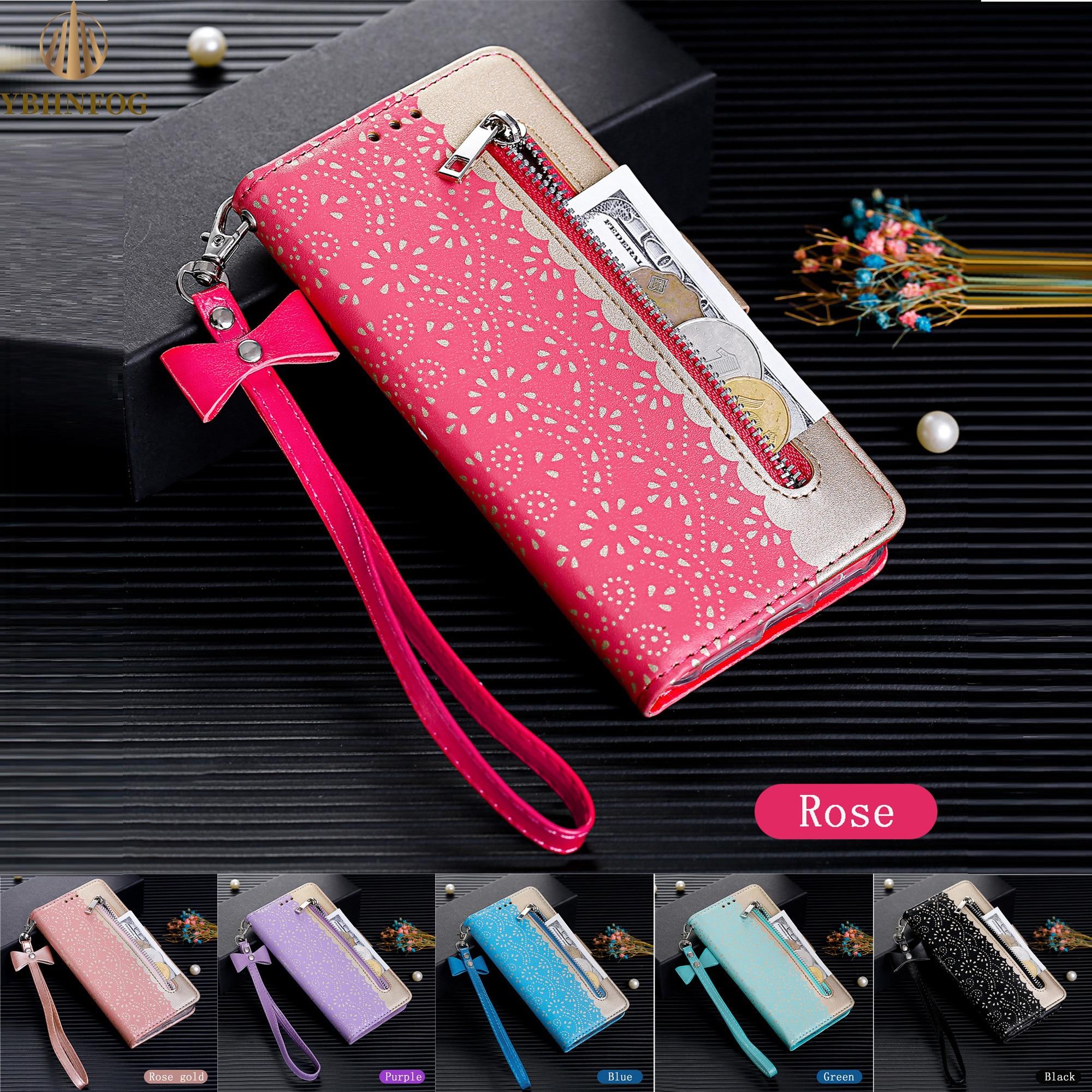 Fashion Zipper Flip Case For Samsung Galaxy A10 A20 A30 A40 A50 A41 A51 S6 S7 Edge S8 S9 Plus S10 S20 Ultra Leather Wallet Cover
