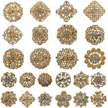 WEIMANJINGDIAN бренд Цена по прейскуранту завода-изготовителя много 24 предмета в комплекте с украшением из цветов, наряд набор брошей набор «сдела...