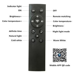 Image 4 - Creativo ultra sottile 5cm Macaron colore LED plafoniera moderna rotonda telecomando lampada camera da letto Foyer Hotel lampada a montaggio superficiale