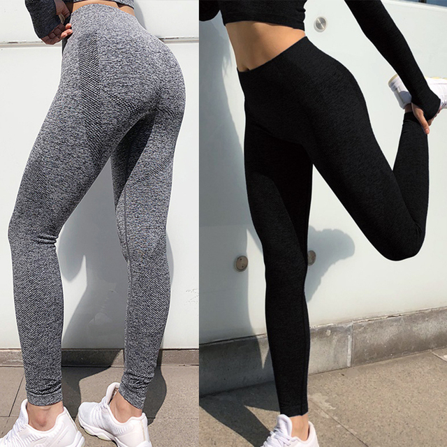 $ US $11.09 Sexcer Seamless High Waist Yoga Leggings Tights Women Workout Dot Breathable Fitness Clothing Female Stretchy Training Pants