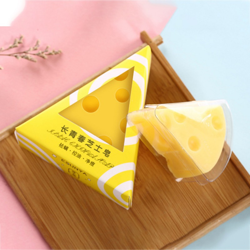 Cheese Cleansing Soap Moisturizing Lasting Oil-control Anti-acne Natural Face Cleaning Soap