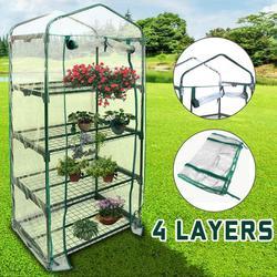 Четыре пола, зеленая домашняя теплица, мини-сад, теплая комната, ПВХ, садовая теплая комната 155x69x49CM