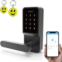 COOLOUS Smart Lock,Smart Deadbolt Bluetooth Keyless,Touchscreen Enable Mechanical Keys,Auto Lock,Remote Sharing,Send Ekeys
