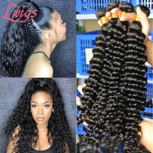 Diepe Golf Braziliaanse Virgin Hair Weave Bundels 100% Human Hair Bundel Losse 1/3 Pcs Raw Lwigs Haar Extensions Diepe Krullend producten(China)