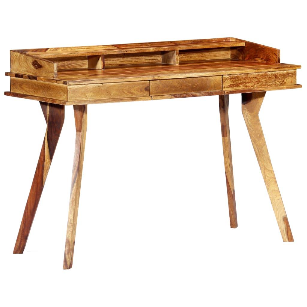 VidaXL Writing Desk 115x50x85 Cm Solid Sheesham Wood