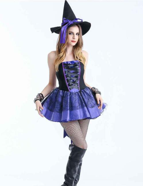 Halloween Witch Costume Night Club Dar DS Party Cosplay Clothing Export to Japan and Europe Stage Performance Dress