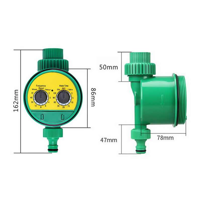 液晶表示ウォータータイマー自動インテリジェント電子ガーデンゴム電磁弁灌漑スプリンクラー制御
