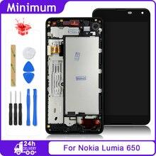 ЖК дисплей для Nokia Lumia 650, дигитайзер сенсорного экрана в сборе + рамка для Nokia650, экран 5 дюймов, для Nokia Lumia 650, RM 1154