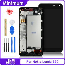 "Per Microsoft Per Nokia Lumia 650 RM 1154 RM 1152 Display LCD Touch Screen Digitizer Assembly + Frame Per Nokia650 5.0 ""schermo"